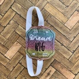 ITH – Dream Big – Book Band – Digital Embroidery Design