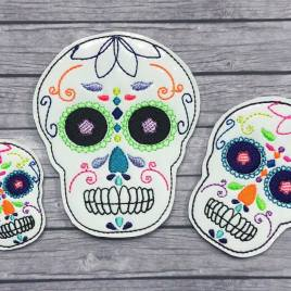 ITH – Sugar Skull Felties – 3 sizes- Digital Embroidery Design