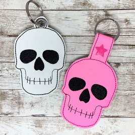 ITH Skull Fobs – 4×4 and 5×7 grouped-DIGITAL Embroidery DESIGN