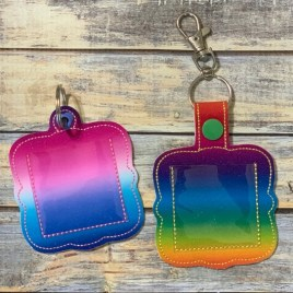 ITH Slip in Photo Fobs – 4×4 and 5×7 grouped-DIGITAL Embroidery DESIGN