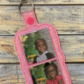 ITH Slip in Double Photo Fobs – 4×4 and 5×7 grouped-DIGITAL Embroidery DESIGN