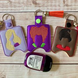 ITH Witch Sisters Set Sanitizer Holders 4×4 and 5×7 included- DIGITAL Embroidery DESIGN