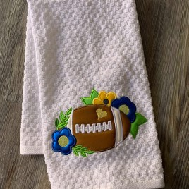 ITH Floral Football Applique – 3 Sizes – DIGITAL Embroidery Design