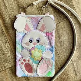 ITH – 3D Bunny Zipper Bag 5×7, 6×10 – Digital Embroidery Design