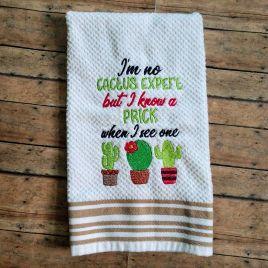 Cactus Expert 5×7 & 6×10 – Digital Embroidery Design