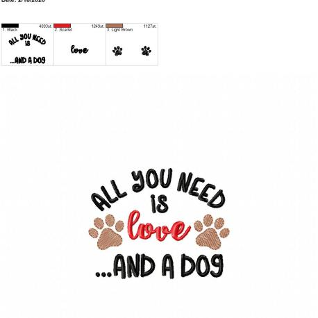 All you need is love and a dog 4×4
