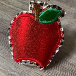 ITH Apple Applique Sanitizer Holder 5×7- DIGITAL Embroidery DESIGN