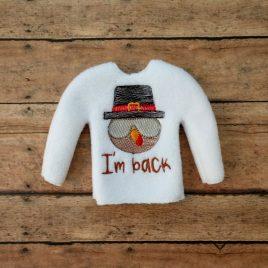 ITH – I'm Back Turkey Doll Sweater 5×7 – Digital Embroidery Design