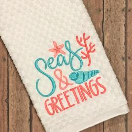 Seas & Greetings – 2 Sizes – Digital Embroidery Design