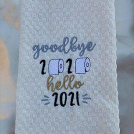 Goodbye 2020 Hello 2021 – 2 sizes – Digital Embroidery Design