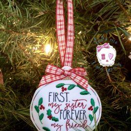 Sister Ornament – Digital Embroidery Design