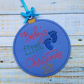Baby's First Christmas 2020 Ornament – Digital Embroidery Design
