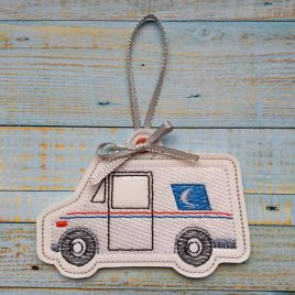 Mail Truck Ornament – Digital Embroidery Design