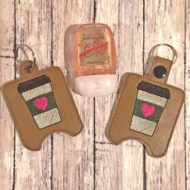 Coffee Sanitizer Holders – DIGITAL Embroidery DESIGN