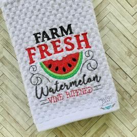 Farm Fresh Watermelon – 3 sizes- Digital Embroidery Design