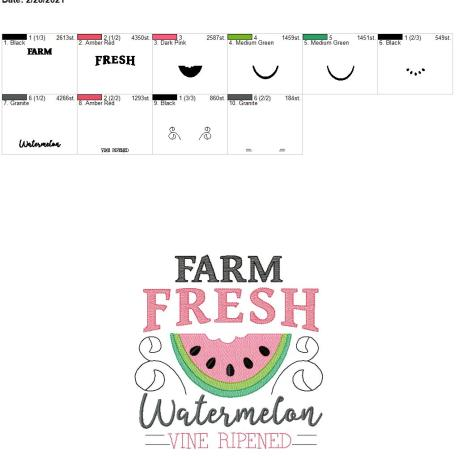 Farm fresh watermelon 8×12