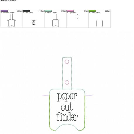Paper Cut Finder Sanitizer holder snap tab 5×7