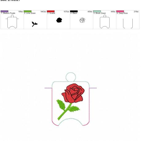 Rose sanitizer holder eyelet 4×4