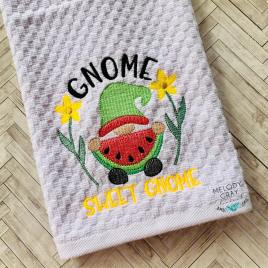 Gnome Sweet Gnome – 3 sizes- Digital Embroidery Design