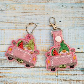 Gnome Watermelon Truck Fobs – DIGITAL Embroidery DESIGN