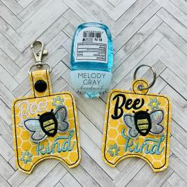 3D Bee Kind Sanitizer Holders 4×4 and 5×7 included- DIGITAL Embroidery DESIGN