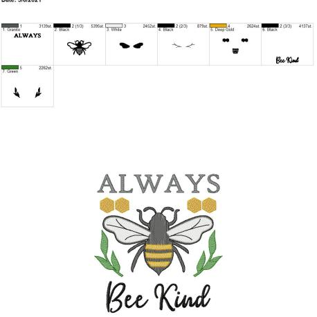 Always Bee Kind 8×12