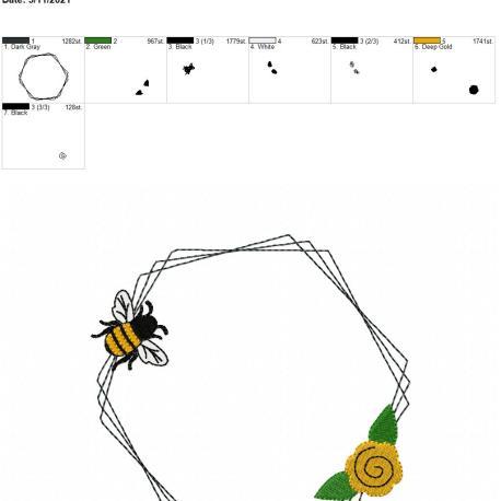 Bee Frame 3 6×10