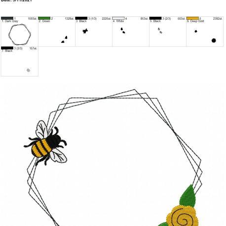 Bee Frame 3 8×12