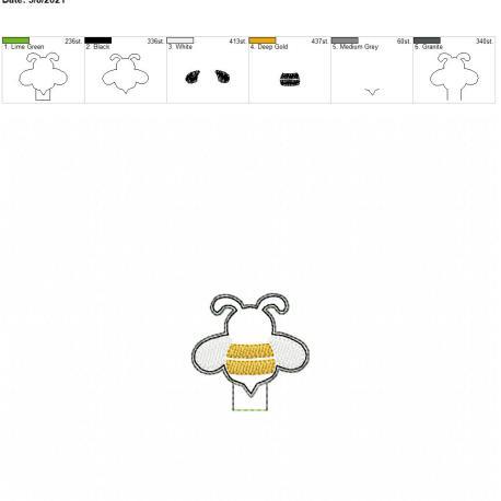 Bee Pencil Topper 4×4