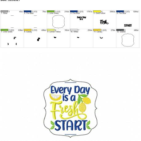 Every day is a fresh start book band 4×4