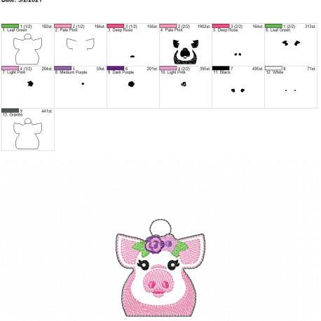 Floral Pig Eyelet 4×4