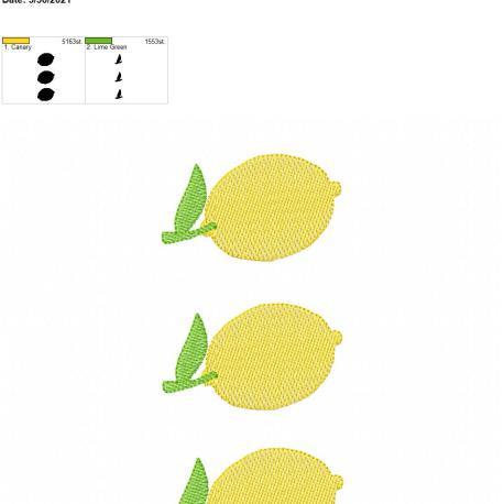 Lemon Sketch Trio 6×10