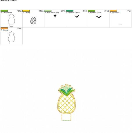 Pineapple Pencil-Topper 4×4
