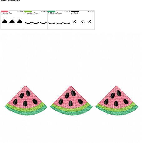 Watermelon Sketch Trio 6×10