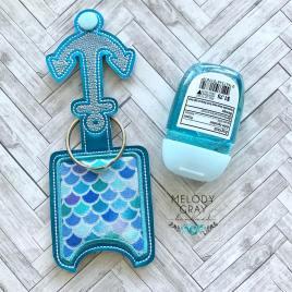 Anchor Applique Fold Over Sanitizer Holder 5×7- DIGITAL Embroidery DESIGN