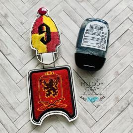 Wizard G House Applique Fold Over Sanitizer Holder 5×7- DIGITAL Embroidery DESIGN