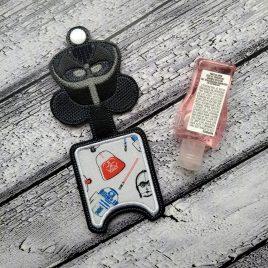Dark One Applique Fold Over Sanitizer Holder 5×7- DIGITAL Embroidery DESIGN