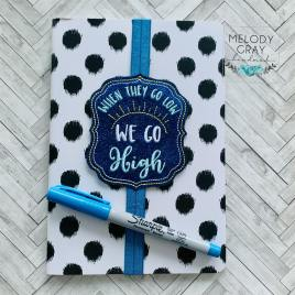 We go High Book Band – Embroidery Design, Digital File