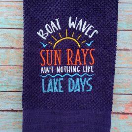 Nothing like lake days – 3 sizes- Digital Embroidery Design