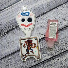 Fork Toy Applique Fold Over Sanitizer Holder 5×7- DIGITAL Embroidery DESIGN