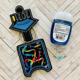 Grad 2021 Applique Fold Over Sanitizer Holder 5×7- DIGITAL Embroidery DESIGN