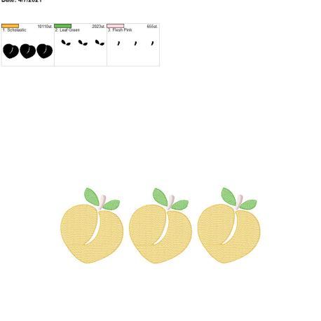 Peach Sketch Trio 8×12