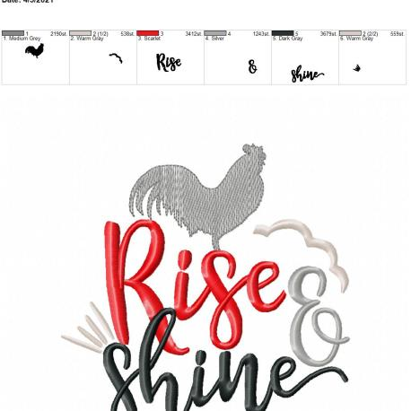 Rise and shine 6×10