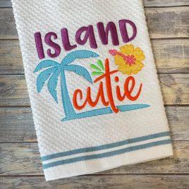 Island Cutie – 3 sizes- Digital Embroidery Design