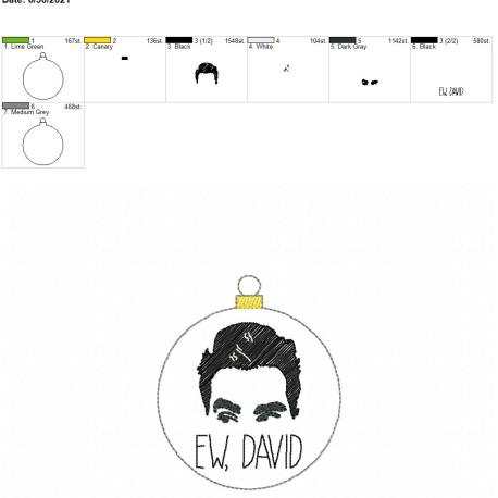 Ew David Ornament 4×4