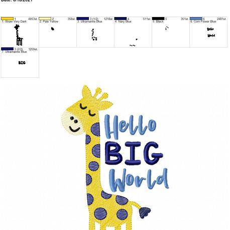 Hello Big World 5×7