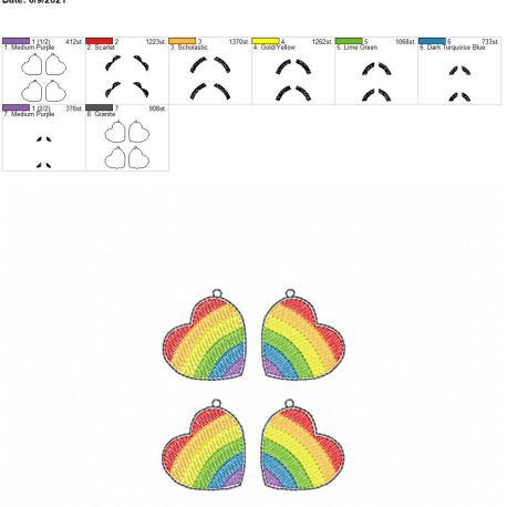 Pride Earrings 4×4 grouped