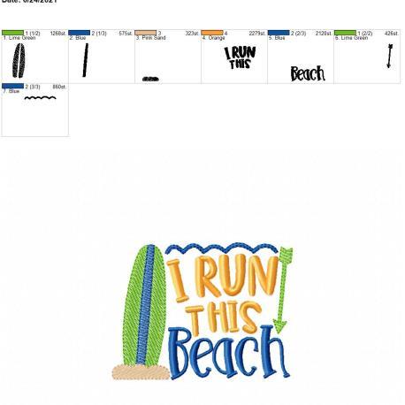 Run this beach 5×7