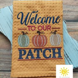 Welcome to our Patch – 4 sizes- Digital Embroidery Design