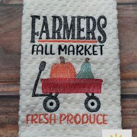 Farmers Fall Market – 3 sizes- Digital Embroidery Design
